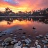 Vibrant American River Sunrise
