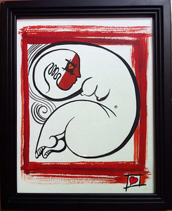 """love is blind 1 //11""""X14"""" / water color original $400.00/ giclee` $100.00"""