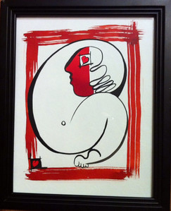"""love is blind 2 //11""""X14"""" / water color original $400.00/ giclee` $100.00"""
