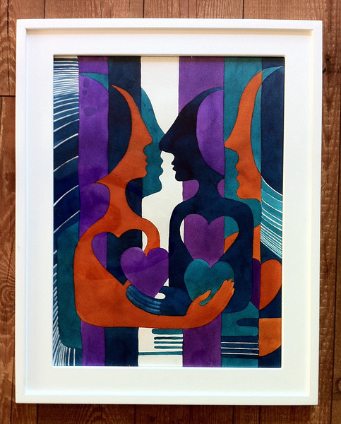 "greater then love // 18""X24"" / watercolor<br /> original $600.00/ giclee` $250.00"