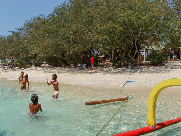 Kids playing in the beach, Gili Trawangan