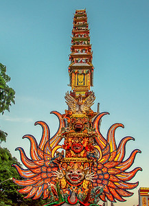 Cremation tower, Ubud