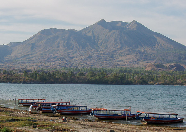 Batur Etna volcano lake