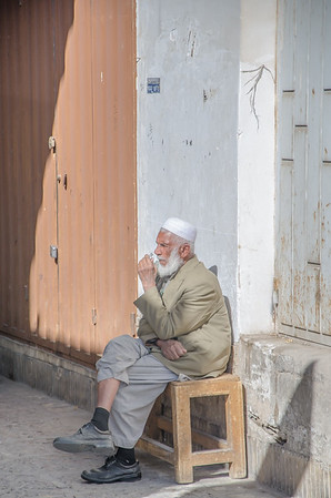 A local in the streets of Yazd