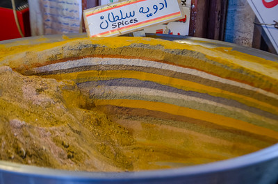 Ablend of spices for Persian Cooking (Advieh) in the bazaar of Esfahan
