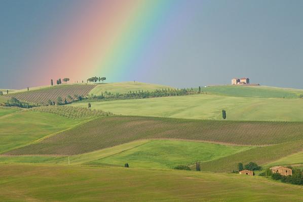 Rainbow over Tuscany