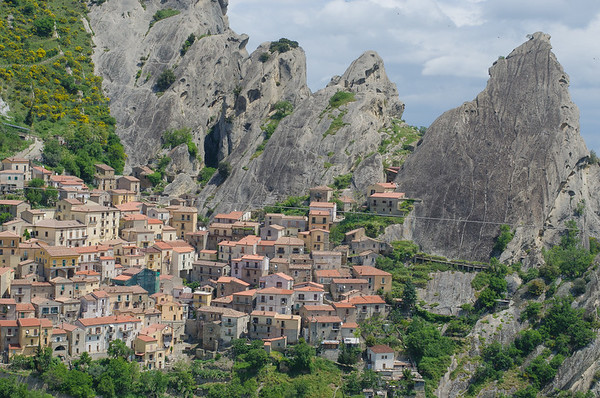 The small town of Castelmezzano