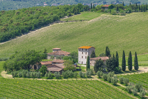 A typical farm in the Tuscany
