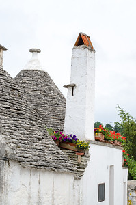 The unique roofs of the Trulli houses of Alberobello, Puglia