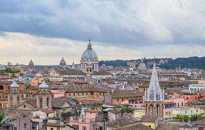 View of Rome's historical center from Monte Pincio