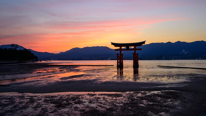 Miyajima Torii at sunset