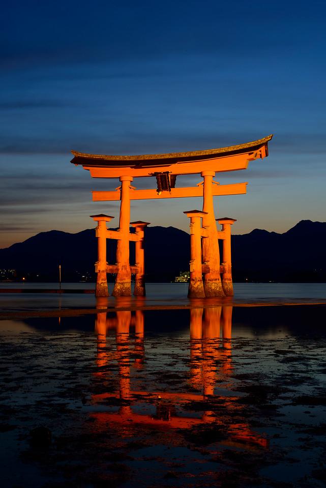 Miyajima Torii at the Itsukushima shrine