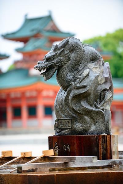 Heian Jingu templ in Kyoto
