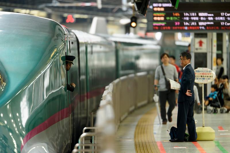 Shinkansen at Tokyo's central station