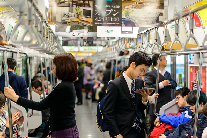 Tokyo's Japanese Rail Yamanote line.