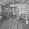 <b>Inside of Log Cabin </b> At the Sauer-Beckmann Living History Farm on the LBJ Ranch near Johnson City, TX.