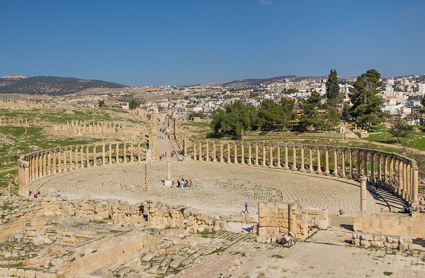 The Oval Forum and in the ancient Roman city of Gerasa