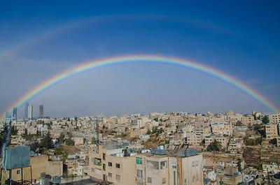 Double rainbow, Amman
