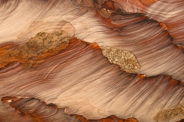 Colorful rock patterns, Petra