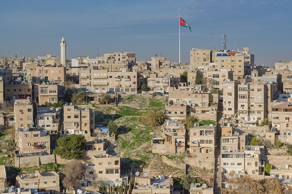 View of the hills around Amman's old city center