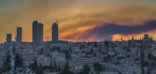 Burning sunset, Amman