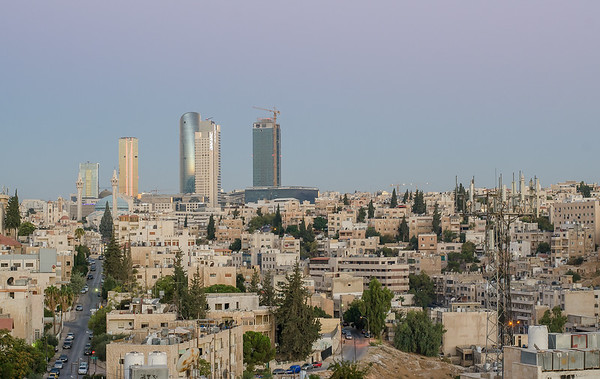 Amman skyline before sunrise (HDR merge)