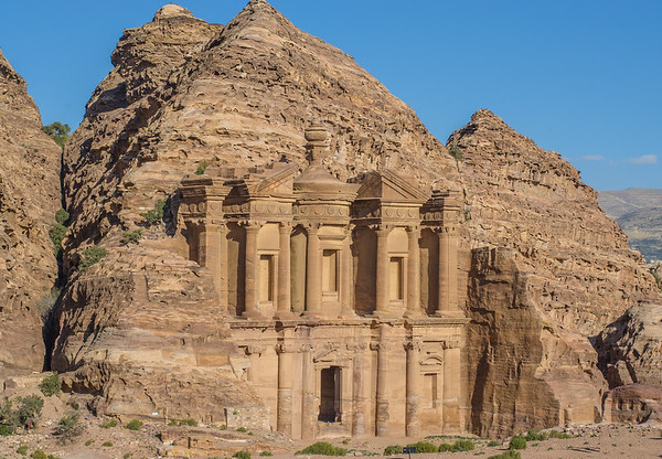 the Monastery (Ad- Deir) in the ancient city of Petra
