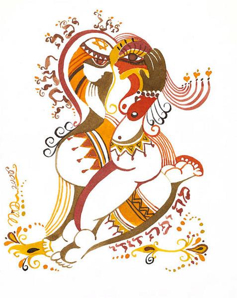 "shir ha shirim // 8.5""x10.5"" / watercolor<br /> original $300.00/ giclee` $100.00"