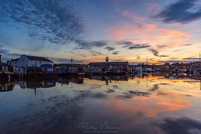 Sunset at Stourport-on-Severn