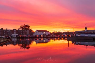 Winter Sunset at Stourport-on-Severn