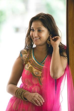 Beautiful Shreyanka as she gets ready for grand photo shoot at her residence