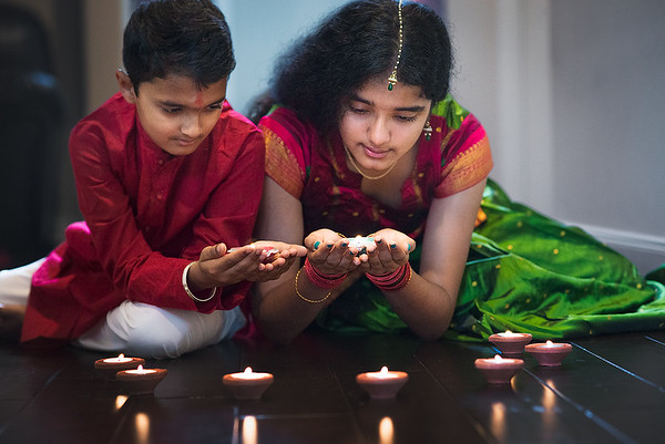 Ritika and Rohan celebrating Indian famous festival called Diwali at there Sugar Land residence