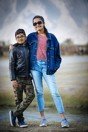 Ritika and Rohan at Pangong Lake, Leh - Ladakh