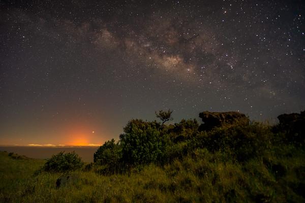Kilauea Eruption Under the Milky Way