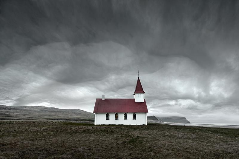 Breiðavíkurkirkja church iceland beidavikur moody dramatic beach westfjords latrabjarg.jpg