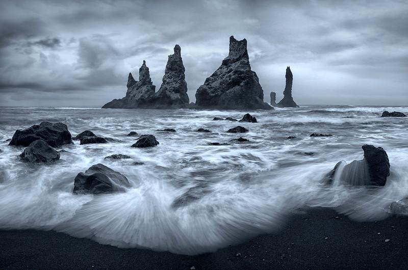 Reynisdrangar cliffs iceland vik myrdal epic moody seascape landscape long exposure fine art mads peter iversen.jpg