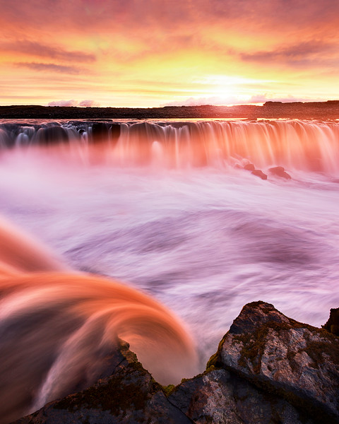 selfoss waterfall sunset fotokunst mads peter iversen aarhus fotograf fine art landscape river iceland cliffs epic amazing beautiful best colors longexposure photography panorama 2.jpg