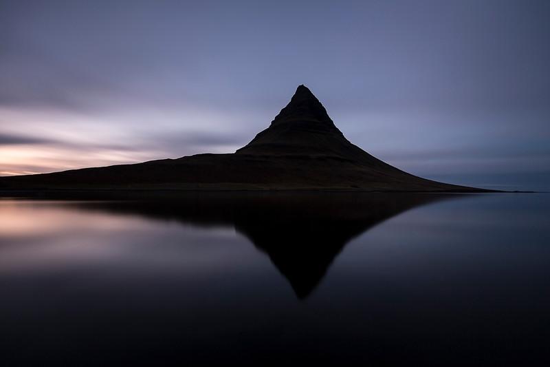Kirkjufell reflection water lake beautiful art mads peter iversen fotokunst iceland island reflektion silhouet nat minimalism landscape.jpg