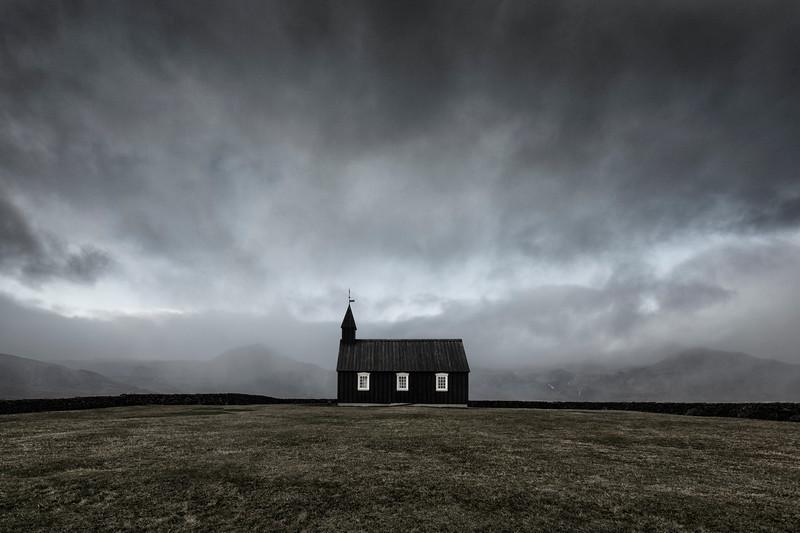 black church iceland Budir fine art dramatic moody island sort kirke mads peter iversen fotokunst.jpg