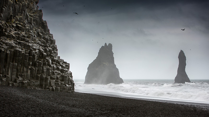 Reynisdrangar cliffs iceland vik myrdal epic moody seascape landscape lord of the rings fine art mads peter iversen.jpg