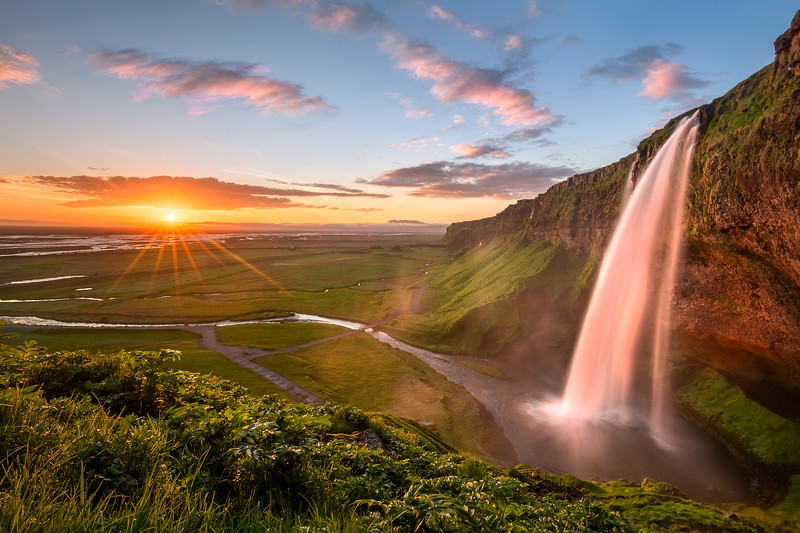 seljalandsfoss sunset iceland long exposure color paradise.jpg
