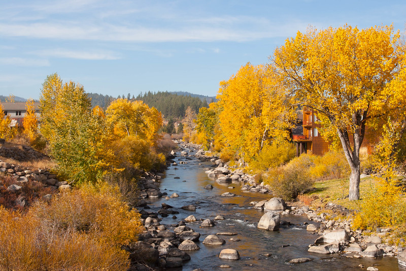 The Truckee River from down town Truckee