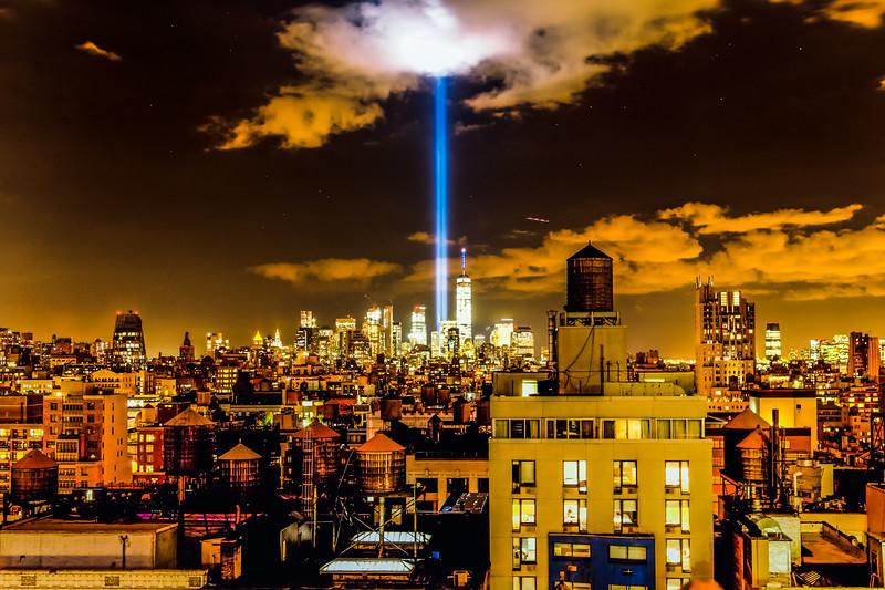 911 Tribute Lights New York City