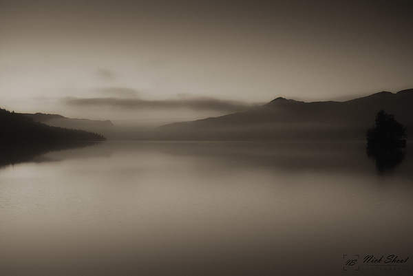 Loch Katrine Morning Sepia