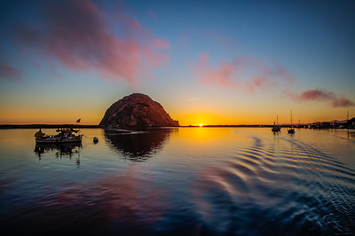 Sunset at Morro Rock