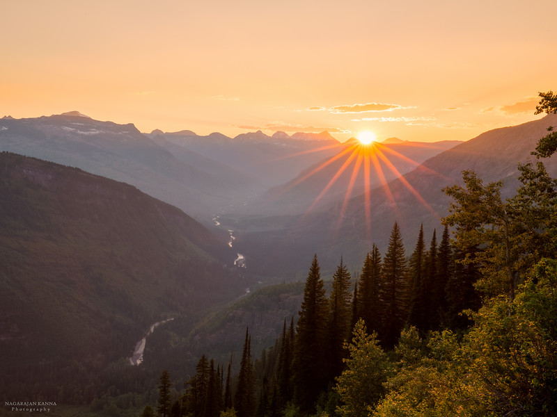 Sunset / Going to the Sun Road - Glacier NP