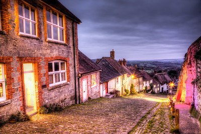Gold Hill at Xmas