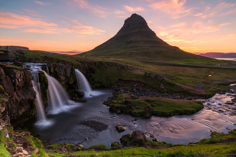 Sunrise at Mt. Kirkjufell, Snæfellsnes peninsula, Iceland