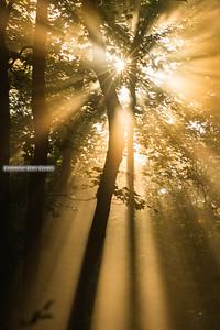 Chimney Rocks Sun Rays