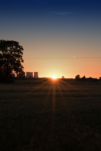 Sunset over Selby